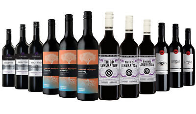 Happy Easter AU Varietal Cabernet Red Wine Mixed 12x750ml Free Shipping