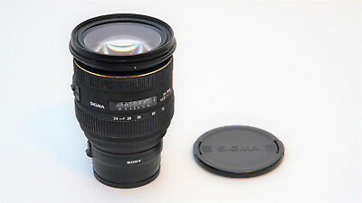 Sigma EX 24-70mm f/2.8 IF HSM DG Lens For Sony A Mount w E Mount Adapter.  READ!
