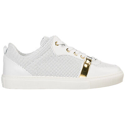 23735a4a138 VERSACE COLLECTION MEN S Shoes Leather Trainers Sneakers New White ...