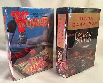 2 Diana Gabaldon ~Voyager, Drums Autumn Outlander #3, 4 First Book Club Editions
