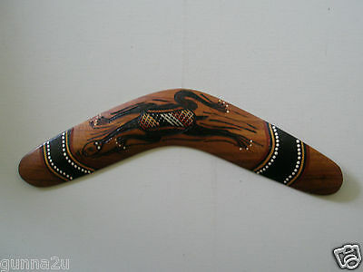 Boomerang - Authentic Aboriginal Artwork - Genuine Hand Crafted & Hand Painted.
