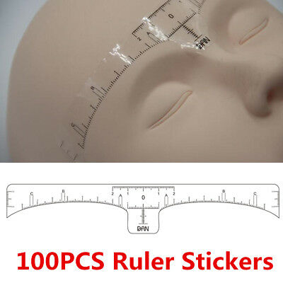 Microblading Disposable Eyebrow Ruler Sticker Tattoo Microblade Measure Tool Hot
