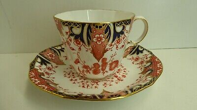 Antique Victorian Royal Crown Derby Teacup And Saucer Imari Porcelain Rd. 204893
