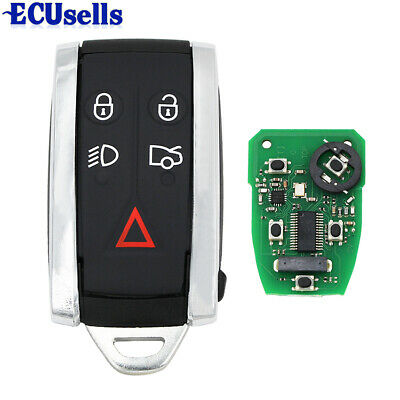 Smart Remote Key Fob 434MHz 5 Button for JAGUAR XF XFR XK XKR 2009-2013 C2P17156