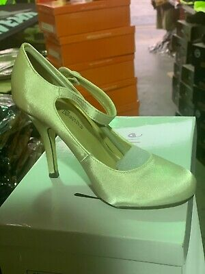 "10 pairs ladies shoes high heel ""wedding"" ivory size 5 perfect w gown/ longdress"