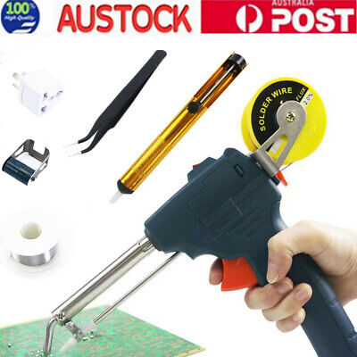 220V 60W Automatic Electric Soldering Station Iron Gun Solder Welding Tool Kits