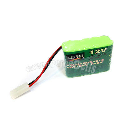 1 pc 12V 2X5 AA 1300mAh NI-MH Rechargeable Battery Pack Tamiya Ultracell Black