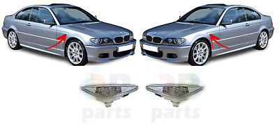 For Bmw E46 Coupe Cabrio 03-06 Front Side Indicator Lamp White Led Pair Set