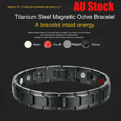 Therapeutic Energy Healing Bracelet Stainless Steel Magnetic Therapy Bracelet AU