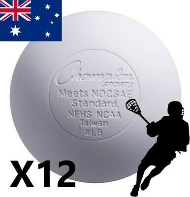 12 Official Lacrosse Balls Team sport size weight Solid rubber field sport white