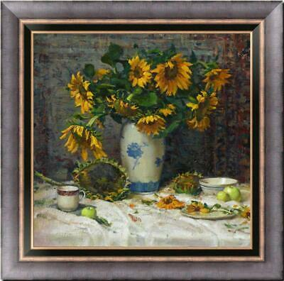 """Hand painted Original Floral Oil painting art still life flower on Canvas 30X30"""""""
