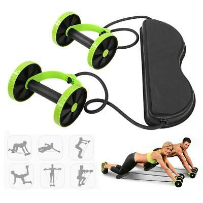 Ab Core Wheel Roller Waist Abdominal Muscle Exerciser Gym Home Fitness Equipment