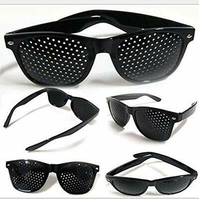 Unisex Eyesight Improve Pinhole Glasses Stenopeic Eyeglasses Sunglasses US