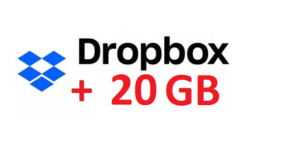 +20GB promo code to Dropbox for ONE YEAR ! for your existing account