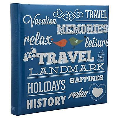 "ARPAN 6"" x 4"" 200 Photos Large Slip in Photo Album Special BLUE Memo Book - With"