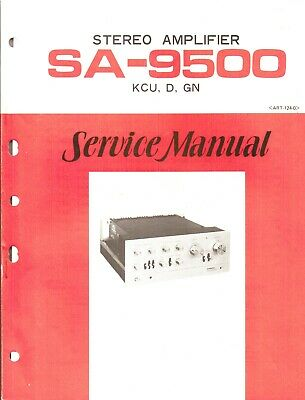 Pioneer SA-9500 Original Service Manual. Money Back Guaranty