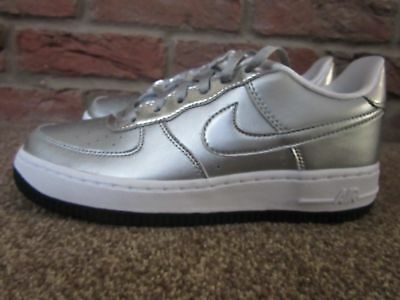 New Trainers 1 Girls Metallic Silver 5 Force Uk Women's Chrome 4 Nike 36 Air Eu drCBxeo