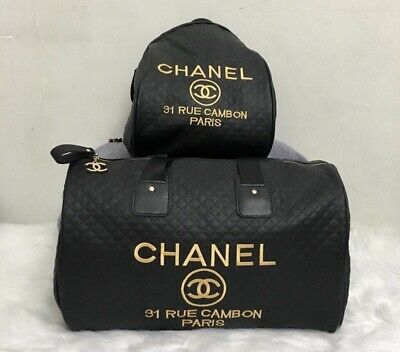 e2f804068f0b4b Chanel VIP Gift Precision Duffel Bag With Matching Backpack Quilted Cambon