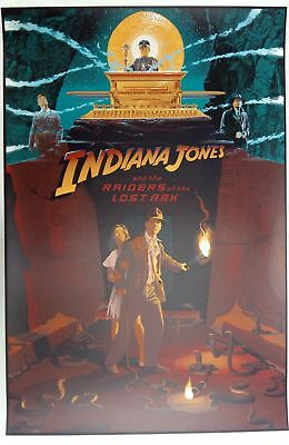 "Laurent Durieux, Indiana Jones Variant 24""x36"" #/275 SIGNED + pins"