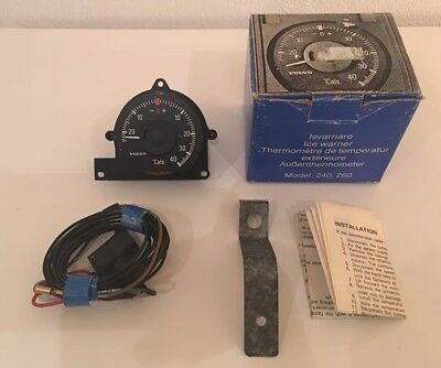 Volvo 240 260 Außenthermometer Ambient Temperature Gauge Ice Warner NOS 1128425