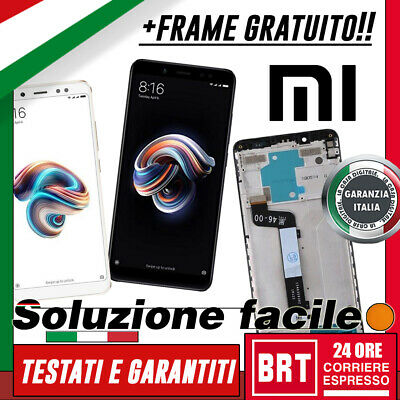 Display Lcd+Touch Screen+Frame Originale Xiaomi Redmi Note 5 Vetro Schermo 24H!!