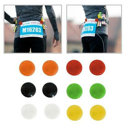 Run Bib Race Number Clips Holders Plastic Running Cycling Sports 6 Colors 2019