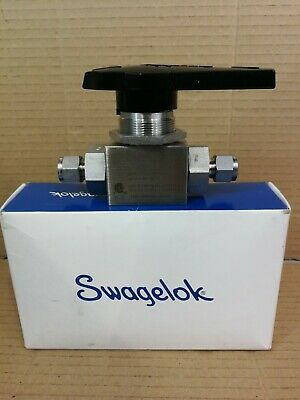 "Swagelok SS-AFSS6 High Pressure Ball Valve 3/8"" Tube Fittings 6000psi"