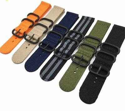 12Colors NATO Military Nylon Strap Strong Watch Band  Ring Buckle 18-20-22-24MM