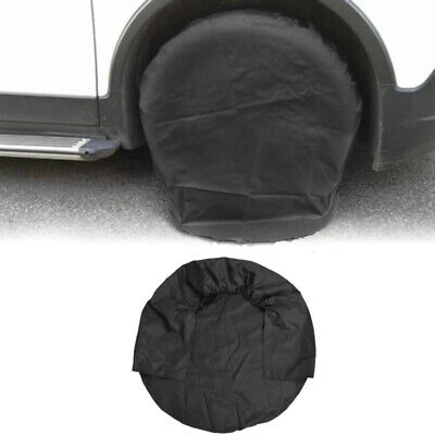 1X Canvas RV Wheel Tire Covers 32'' Tire Protector Cover Set for Trailer Car hot