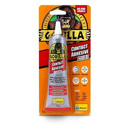 Gorilla Glue Contact Adhesive | Waterproof No Run Clear Strong Permanent Bond
