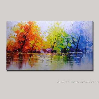 LMOP68 charm landscape 100% hand-painted MODERN ABSTRACT OIL PAINTING CANVAS ART