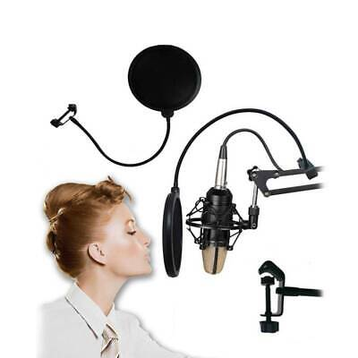 Double Layer for Recording Wind Screen Microphone Mic Pop Filter Mask Shield Y