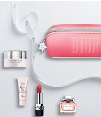 Dior Beauty 5 Piece Gift Set - Miss Dior, Lipstick, Capture Youth, Dreamskin +