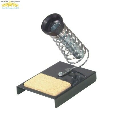 Precision Gold Desktop Soldering Iron Stand With Sponge Tip Cleaning Tray