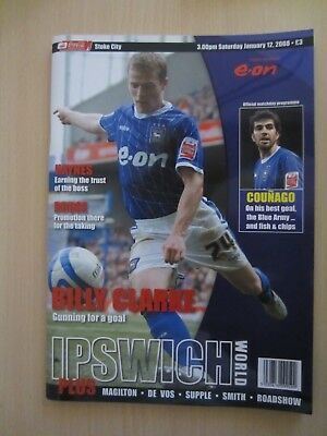 12/01/2008 Ipswich Town v Stoke City 2007/08 FREE POSTAGE