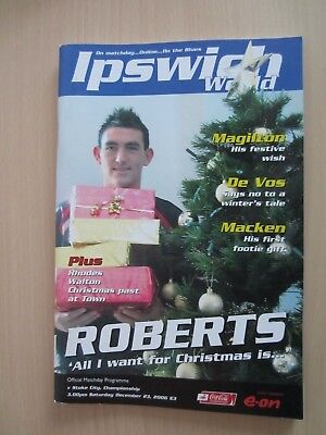 23/12/2007 Ipswich Town v Stoke City 2006/07 FREE POSTAGE