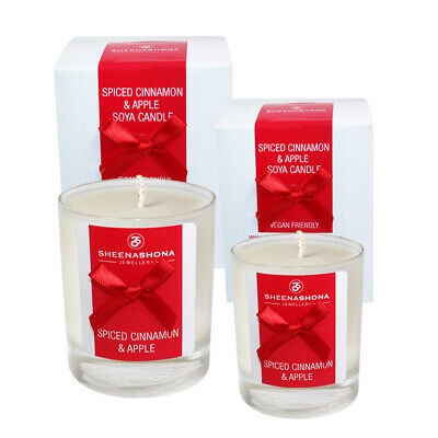 Medium & Small Soya Wax Hand Poured Scented Candles - Spiced Cinnamon & Apple