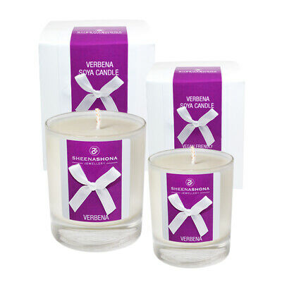 Medium & Small Soya Wax Vegan Luxury Hand Poured Scented Candles - Verbena