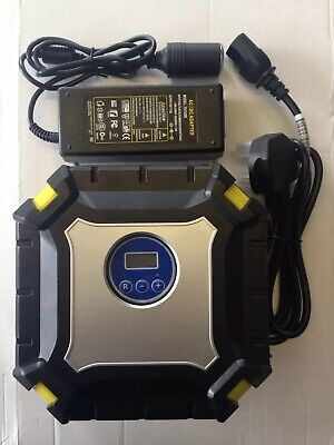 12V Rapid 35L/MIN Digital Air Compressor (Tyre Inflator) and Mains Power Supply