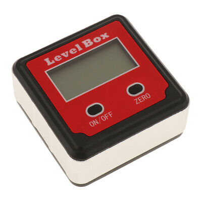 Digital LCD Level Box Protractor Angle Finder Level Gauge Magnetic Based Red