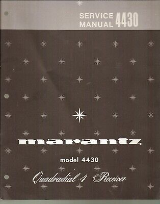 Marantz 4430 Original Service Manual. Money Back Guaranty