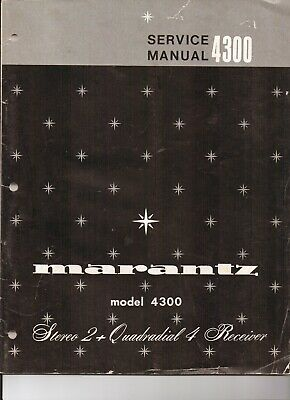 Marantz 4300 Original Service Manual. Money Back Guaranty