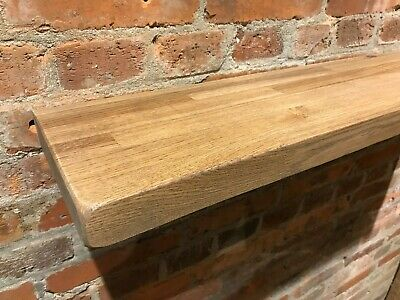 """Solid Oak Shelves Floating Rustic Chunky Country Kitchen Farmhouse 6"""""""