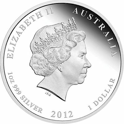 2012 Australia Encapsulated Year of the Dragon 1 Oz .999 Silver Coin