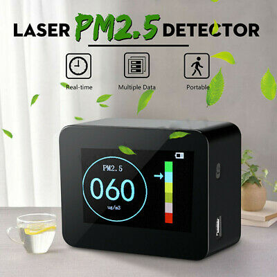 Laser PM1.0 PM2.5 PM10 Detector Home Office Car Air Quality Tester LCD RA
