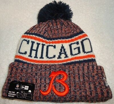 063d0ce25 Chicago Bears Nfl Authentic New Era 2018 On Field Sport Knit Hat New With  Tags