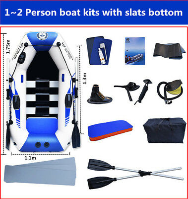inflatable rubber boat row boat outboard possible 175cm slats bottom
