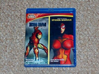Marvel Knights: Iron Man/Spider Woman Blu-ray 2011 Brand New Shout Factory