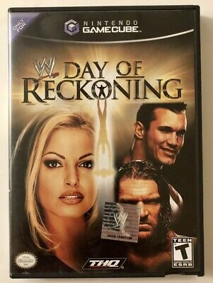 WWE: DAY OF Reckoning (Nintendo GameCube, 2004) Game Disc Complete CIB  Working
