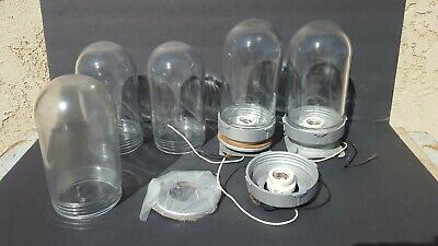 VTG Light Fixture Bubble Jar Screw Warehouse Steampunk Industrial Decor Lighting